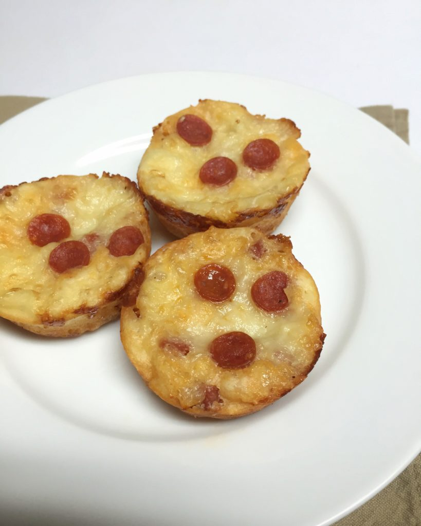 Pepperoni Pizza Muffins | Sam's Dish