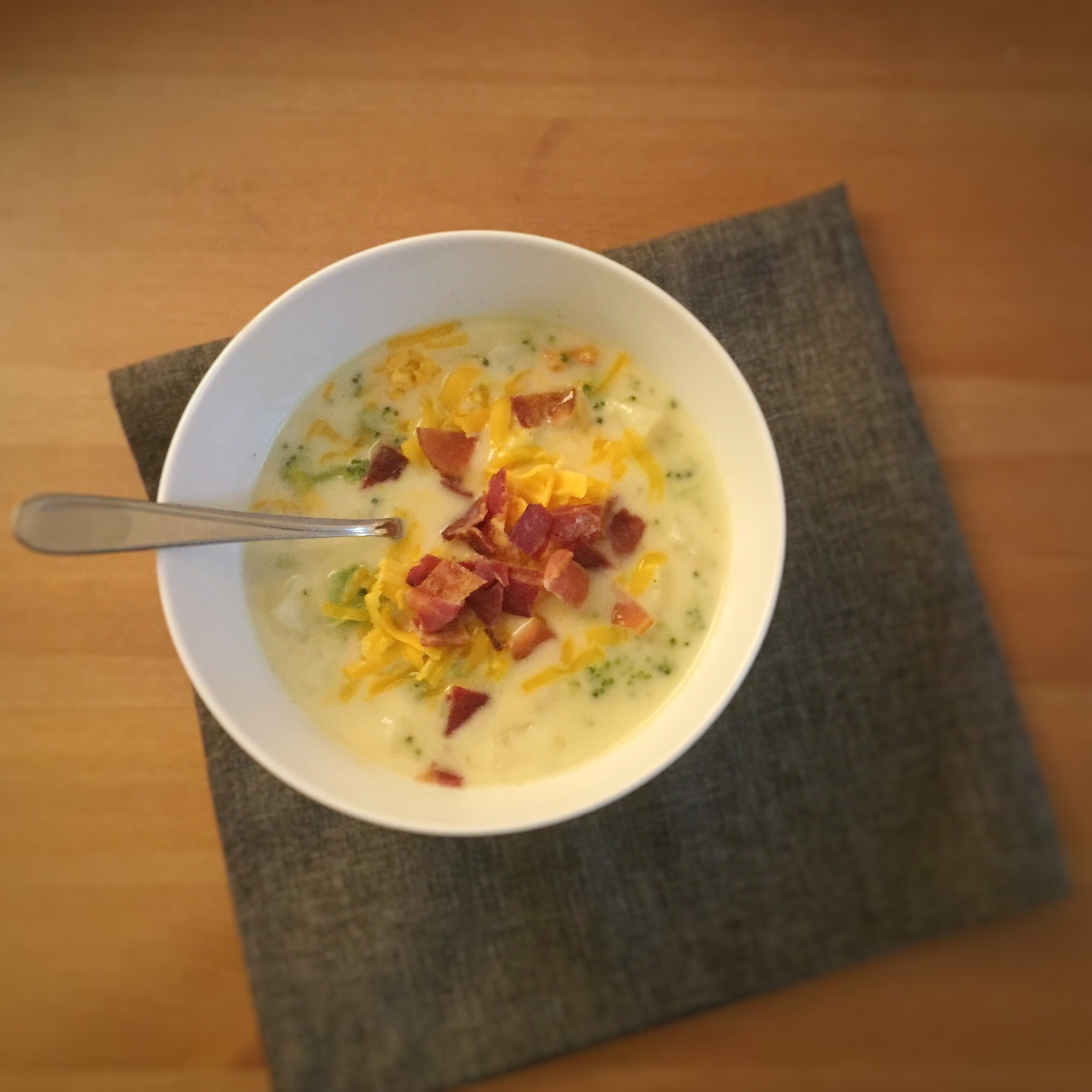 Loaded Broccoli, Potato and Cheese Soup