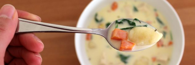 Creamy Chicken and Gnocchi Soup