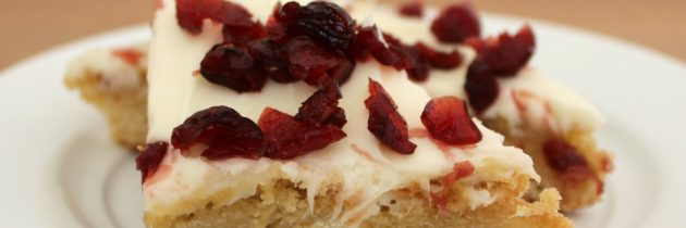 Lighter Cranberry Bliss Bars