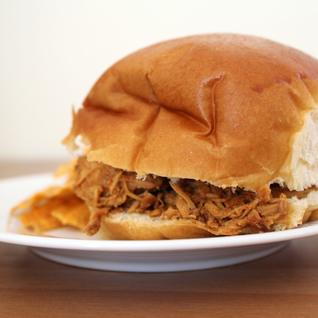 Slow Cooker BBQ Chicken Sandwiches | Sam's Dish