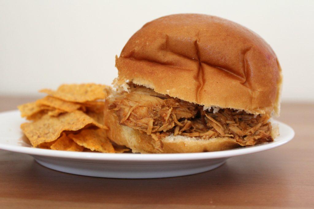 Slow Cooker BBQ Chicken Sandwiches | Sam's Dish