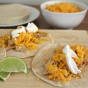 Slow Cooker Crispy Lime Chicken Tacos