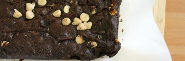 Fudge Brownies with White Chocolate Chips