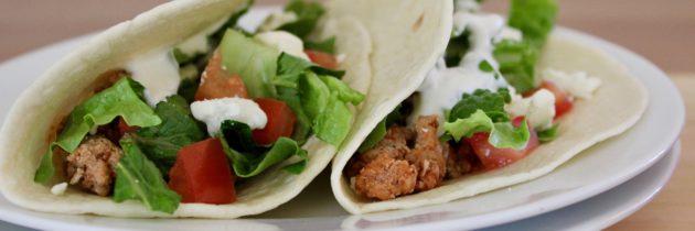 Ground Turkey Greek Tacos