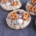 Caramel Pretzel Chocolate Chip Oatmeal Cookies