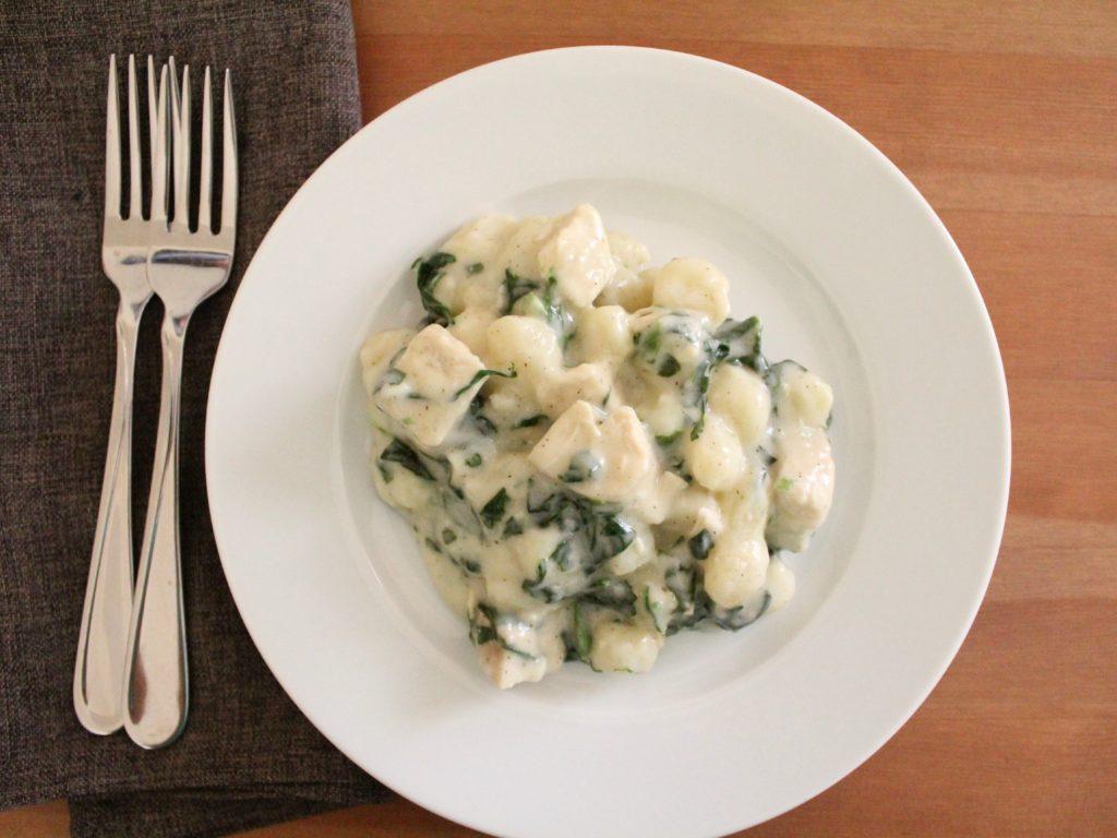 Skillet Chicken and Spinach Gnocchi   Sam's Dish