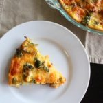 Bacon Broccoli Cheddar Crustless Quiche | Sam's Dish