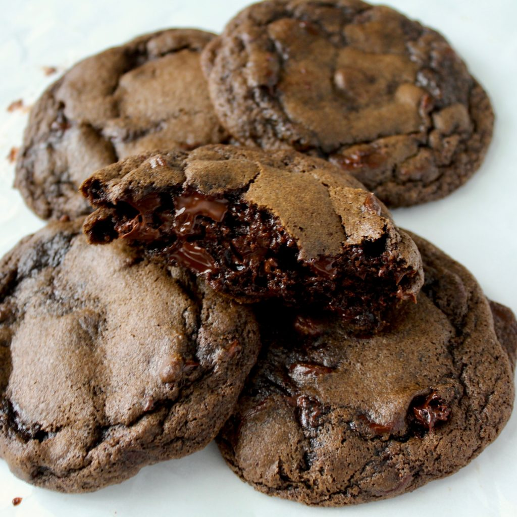 Bakery Style Double Chocolate Chip Cookies | Sam's Dish